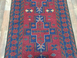 Persian Rug Hand Knotted Oriental Rug Long Persian Baluch Runner 2'2X9'1