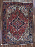 Persian Rug Hand Knotted Oriental Rug Persian Heriz Rug 8X10'9