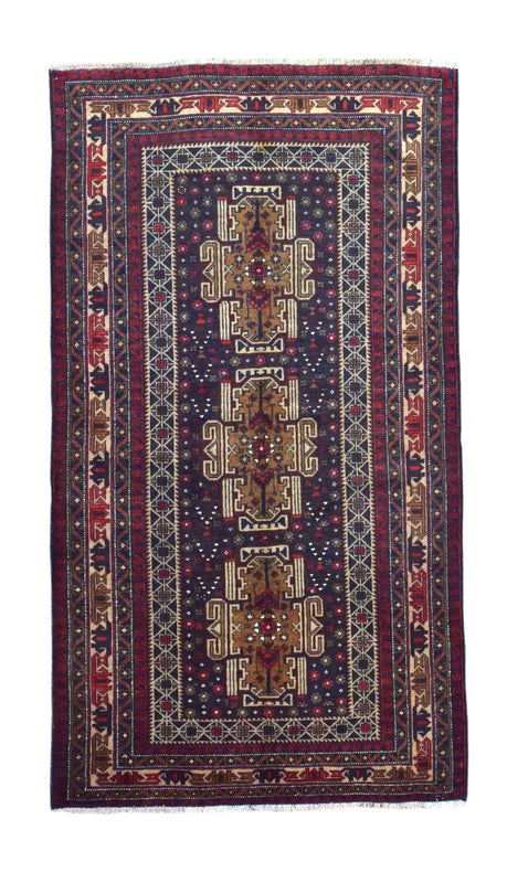 Persian Rug Hand Knotted Oriental Rug Persian Rug Baluch 3'6X6'5