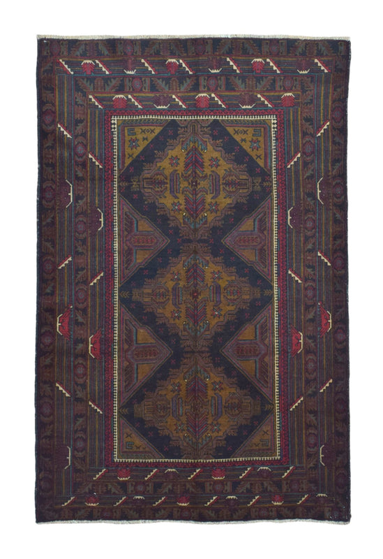 Persian Rug Hand Knotted Oriental Rug Persian Rug Baluch 4X6'2