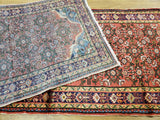Persian Rug Hand Knotted Oriental Rug Semi-Antique Fine Persian Hamadan Runner 3'6x10'6