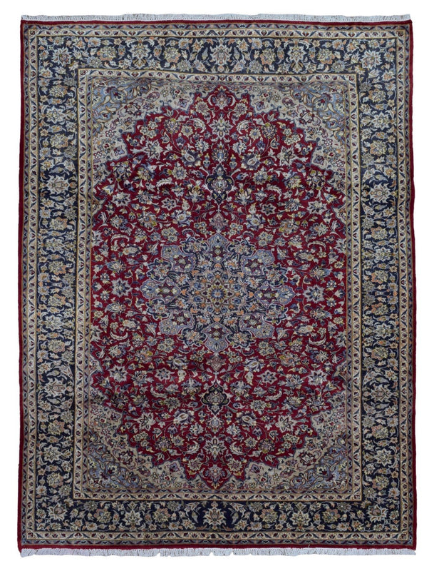 Persian Rug Hand Knotted Oriental Rug Semi-Antique Fine Persian Isfahan Oriental Rug 8'5X11'2