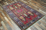 Persian Rug Hand Knotted Oriental Rug Semi-Antique Persian Baluch Rug 3'6X5'9