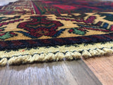 Persian Rug Hand Knotted Oriental Rug Semi-Antique Persian Baluch Rug 3'8X6'5
