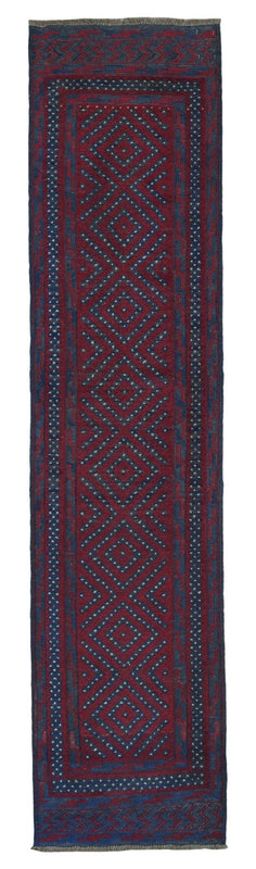 Persian Rug Hand Knotted Oriental Rug Semi-Antique Persian Baluch Runner Rug 2X8'3