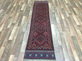Persian Rug Hand Knotted Oriental Rug Semi-Antique Persian Baluch Runner Rug 2X8'4