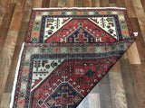 Persian Rug Hand Knotted Oriental Rug Semi-Antique  Persian Hamadan Oriental Rug 3'4X4'9