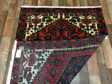 Persian Rug Hand Knotted Oriental Rug Semi-Antique Persian Hamadan Oriental Rug 3'5X4'10
