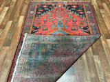 Persian Rug Hand Knotted Oriental Rug Semi-Antique Persian Hamadan Oriental Rug 4'3X7