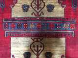 Persian Rug Hand Knotted Oriental Rug Semi-Antique Persian Hamadan Oriental Rug 4'5X10'2