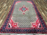 Persian Rug Hand Knotted Oriental Rug Semi-Antique Persian Hamadan Oriental Rug 5'2X9'11