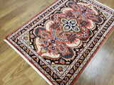 Persian Rug Hand Knotted Oriental Rug Semi Antique Persian Hamadan Rug 3'3X6'6