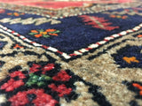 Persian Rug Hand Knotted Oriental Rug Semi-Antique Persian Hamadan Rug 4'7X7'
