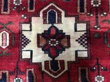 Persian Rug Hand Knotted Oriental Rug Semi-Antique Persian Hamadan Rug 5'5X6'9