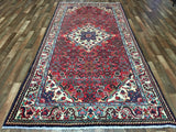 Persian Rug Hand Knotted Oriental Rug Semi-Antique Persian Hamadan Rug 5'x10'7