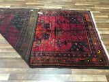 Persian Rug Hand Knotted Oriental Rug Semi-Antique Persian Hamadan Runner Rug 5'2X9'4