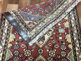 Persian Rug Hand Knotted Oriental Rug Semi-Antique Persian Hamadan Small Rug 2'X2'9