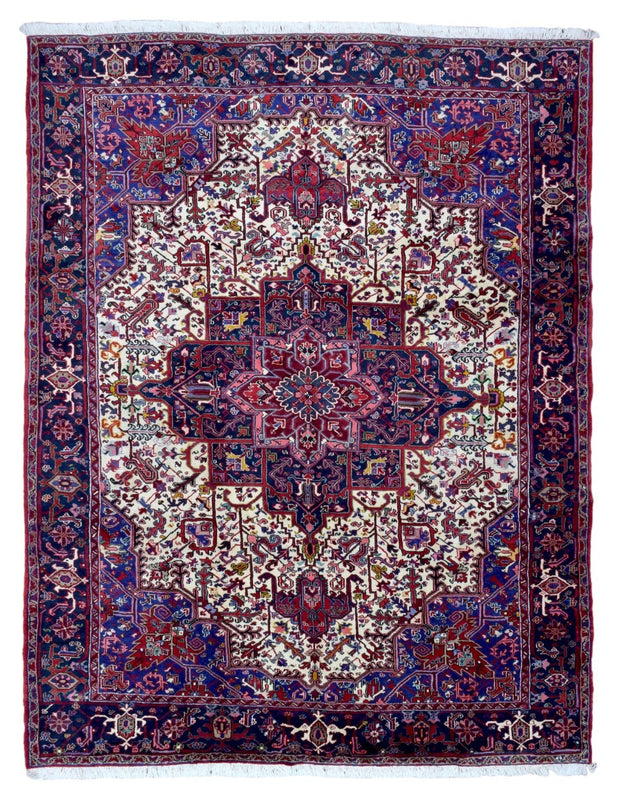 Persian Rug Hand Knotted Oriental Rug Semi-Antique Persian Heriz Oriental Rug 10'2X13'9