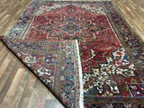 Persian Rug Hand Knotted Oriental Rug Semi-Antique Persian Heriz Oriental Rug 8'4X12'2
