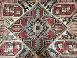 Persian Rug Hand Knotted Oriental Rug Semi-Antique Persian Heriz Oriental Rug 8'6X10'10