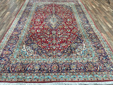 Persian Rug Hand Knotted Oriental Rug Semi Antique Persian Kashan 7'9X10'7