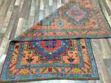 Persian Rug Hand Knotted Oriental Rug Semi Antique Persian Kazak Rug 4'3X7'7