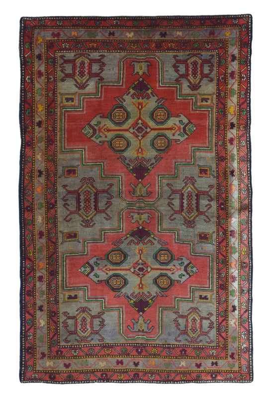 Persian Rug Hand Knotted Oriental Rug Semi Antique Persian Kazak Rug 5'3X8'5