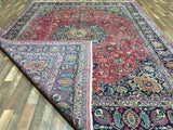 Persian Rug Hand Knotted Oriental Rug Semi-Antique Persian Mashad Oriental Rug 9'4X12'5