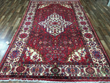 Persian Rug Hand Knotted Oriental Rug Semi-Antique Persian NahavRug 6'9X11'4