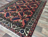 Persian Rug Hand Knotted Oriental Rug Semi-Antique Persian Rug Hamadan 3'6 X 5'1