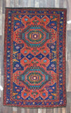 Persian Rug Hand Knotted Oriental Rug Semi Antique Persian Rug Kazak 4'6X7'3