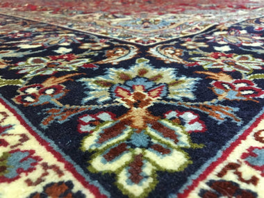 Persian Rug Hand Knotted Oriental Rug Semi-Antique Very Fine Persian Isfahan Oriental Rug 8'X12'