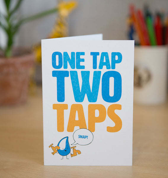 This card is more than just a card - you'll be providing a community access to clean water thanks to these two terrific taps!