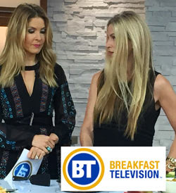 Mary Jo visits Breakfast TV Canada with Dina Pugilese