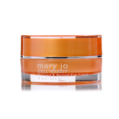 Mary Jo Eye Cream diminishes signs of aging, visibly lifts and firms, and helps brighten dark circles.