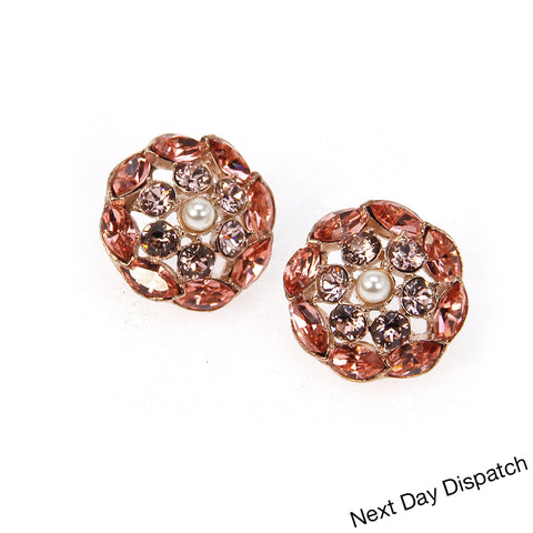 Rose Earrings ( Buy as Seen )