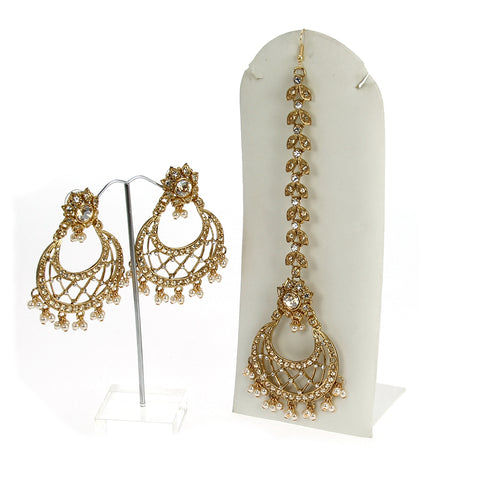 Rivaaz Earrings and Tika Set (BUY AS SEEN)