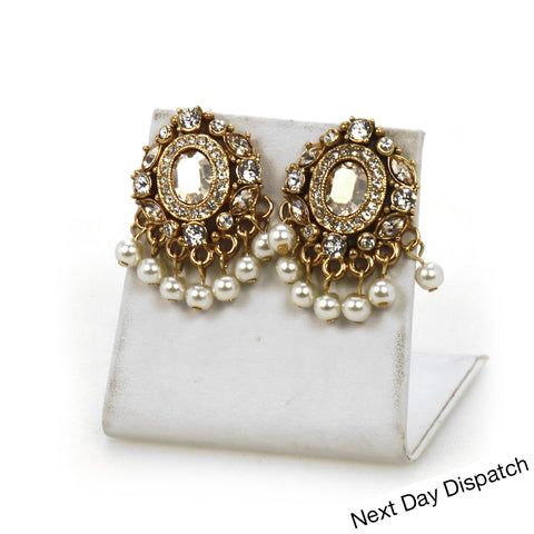 Roma Pearl Studs ( Buy as Seen )