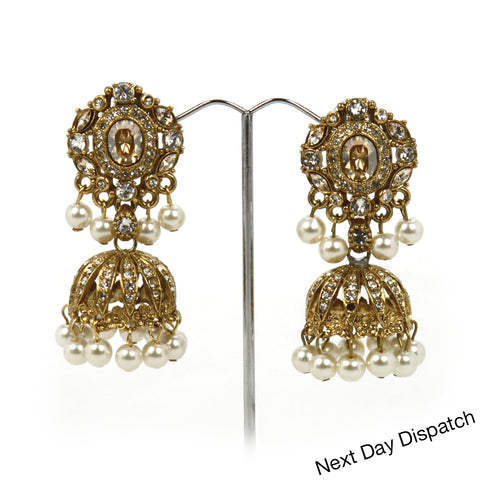 Heerat Jhumka Earrings ( Buy as Seen )
