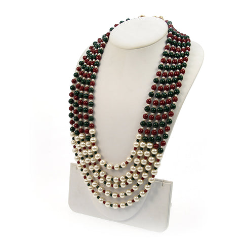 Atrani Beaded Long Necklace