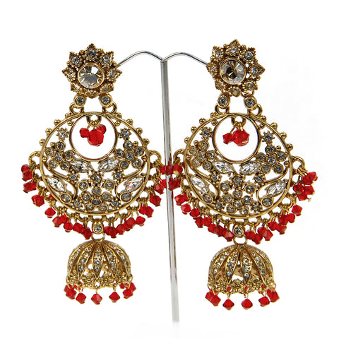 Gulnaar Fan Jhumki Earrings