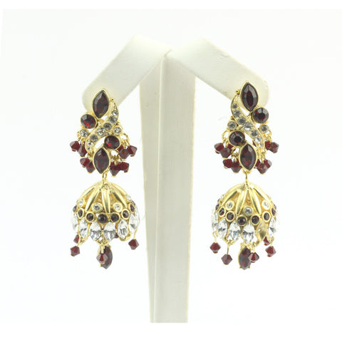 Leaf Twined Jumki Earrings