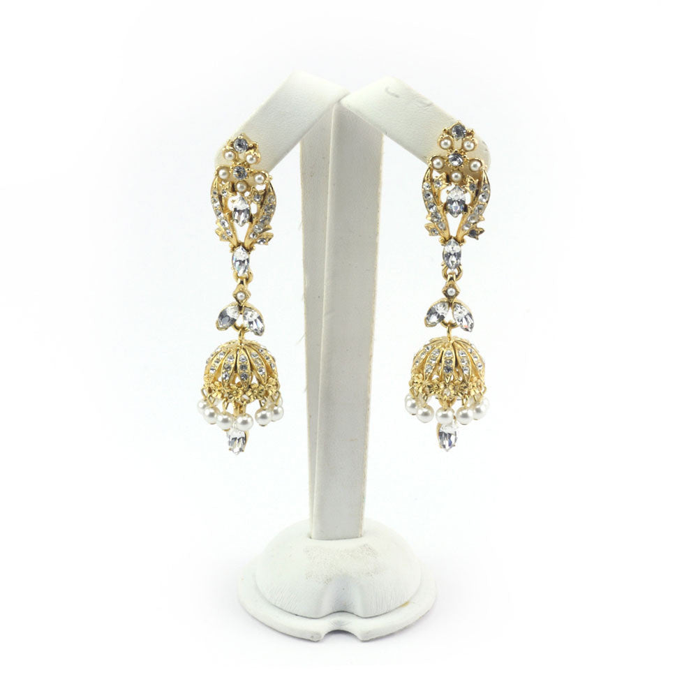 Pearlised Chandelier Earrings