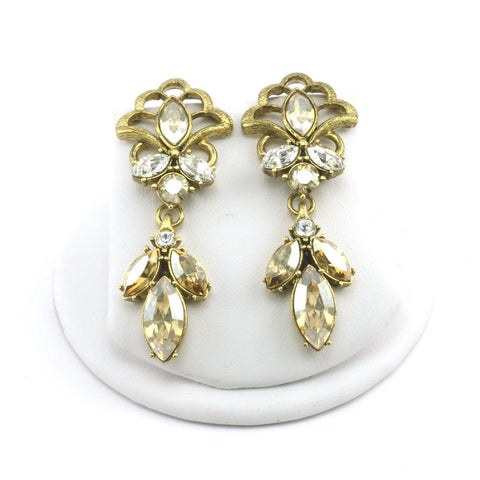 Navette Fan Drop Earrings