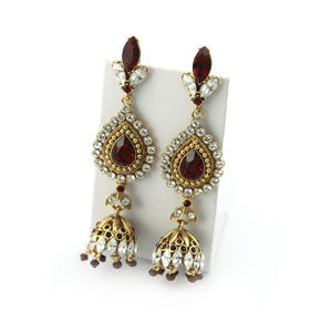 Bejewelled Long Earrings