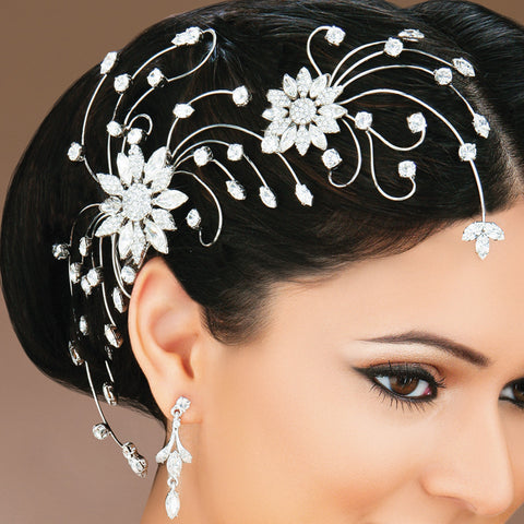 Floral Filigree Hair Comb