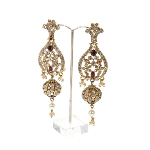 Ruellia Designer Jhumka Earrings