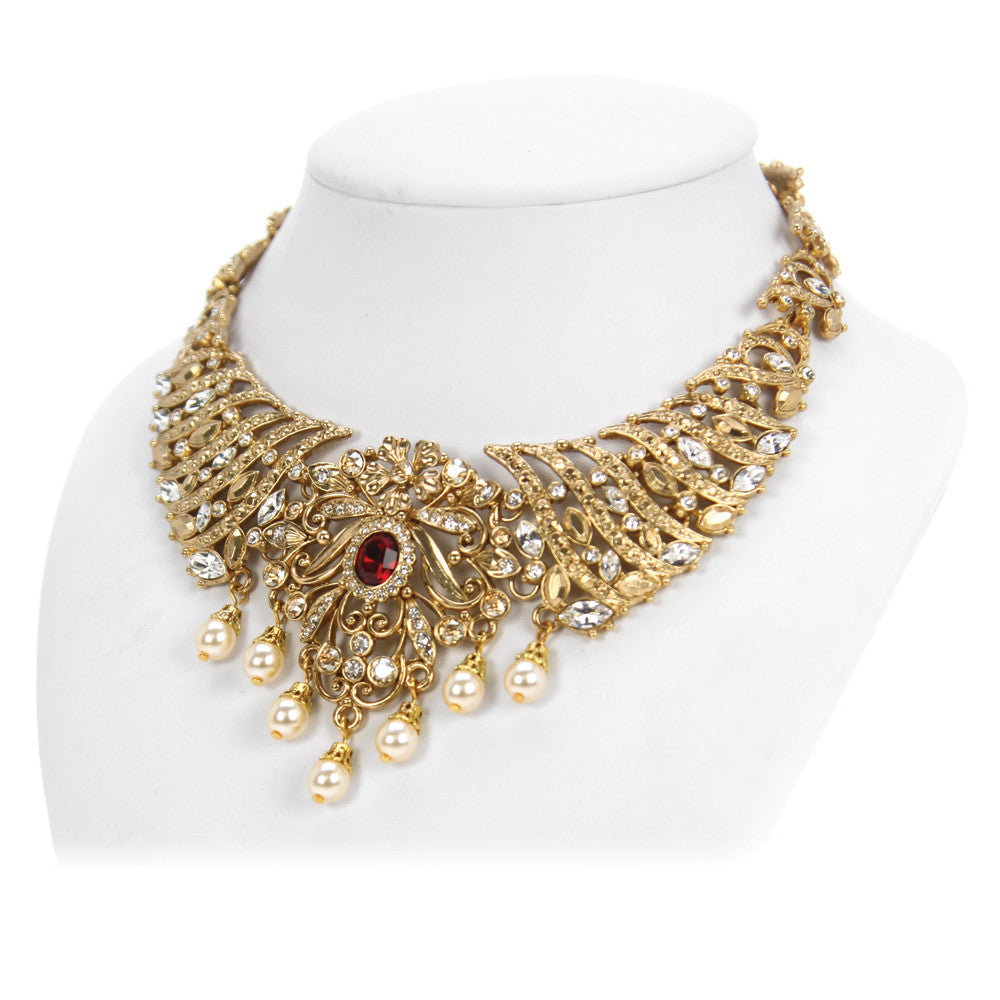 necklace set jewellery soni online bridal buy diamond art latest