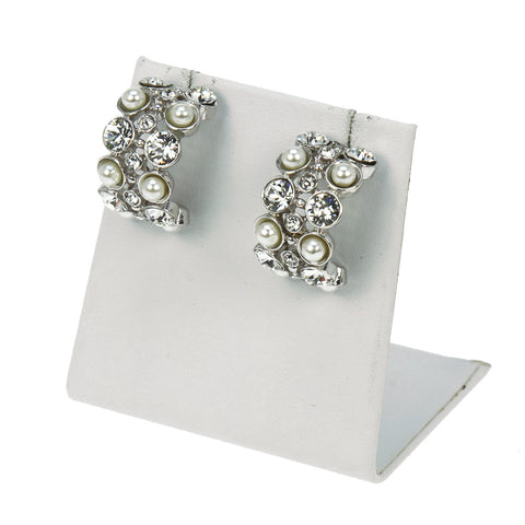 Circle Stone Petite Earrings