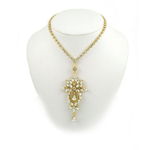 Cluster Navette Necklace